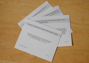 16 Definition cards